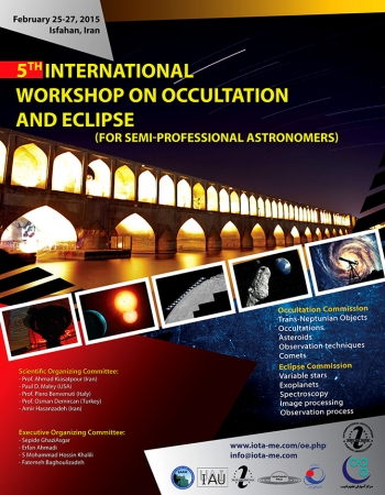 Announcement of the 5th International Workshop on Occultation and Eclipse