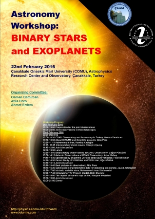 Workshop on Binary Stars and exoplanets in Turkey